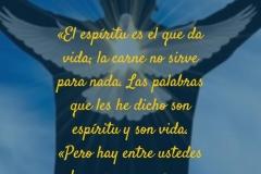 El espíritu es el que da vida