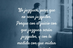 No juzguen